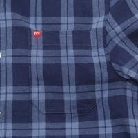 ティーワイアール(TYR) 半袖チェックシャツ TCHEKL-17SRL NVY (Men's)