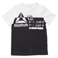 リーボック(REEBOK) 【多少の汚れ等訳あり大奉仕】ボーイズ WOR CO 切替 Tシャツ MLI34-BK4421 (Jr)