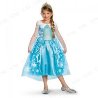 ディズニー映画「アナと雪の女王」に登場するエルサのキッズ用衣装です。雪の女王の世界観を表現したブルー...