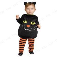 赤ちゃん用の黒猫のチュニック。ハロウィンシーズンにぴったりです    【関連キーワード】 キャット,...