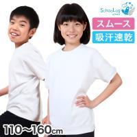体操服 半袖 小学生 男子 女子 110~160cm (体操着 白 小学校 女の子 男の子 速乾 子供 綿 半そで キッズ) (送料無料)