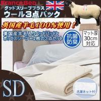 (フランスベッド) グッドスリーププラス 羊毛3点セット セミダブル 122×195cm fb_360052_sd (インテリア/寝具/ファブリック/ベッドパッド/カバー/新生活/快適