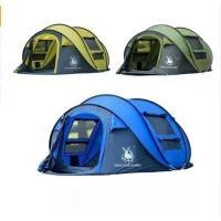 HUILINGYANG テント 投げるだけで簡単設置 アウトドア キャンプ 選べるカラー 防風・防水 3~4人用【領収発行可】