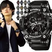 人気 BIGフェイス デジアナ アナデジ 5気圧防水腕時計です。 50m防水 (5気圧防水) で送料...