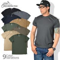 速乾素材のタクティカルTシャツは、汗をかいたり洗濯後も素早く乾燥します。左右の袖に小型ポケット・サン...
