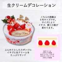 店頭お渡し商品 5号クリスマス生クリームデコレーションケーキ