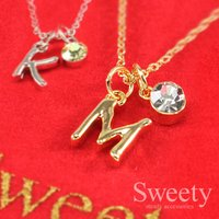 2BUY 10%OFF!イニシャル ネックレス「A」「C」「E」「H」「J」「K」「M」「N」「R」「S」「T」「Y」 全3色