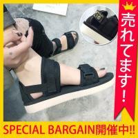 スポサン サンダル レディース スポーツサンダル フラット    【35】22.0-22.5cm 【...