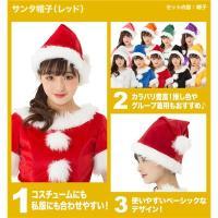 〔クリスマスコスプレ 衣装〕 サンタ帽子 レッド