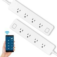 スマートフォンアプリで電源タップをコントロール 各コンセントプラグを同時に別々にコントロール バッテ...