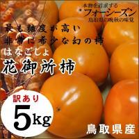 花御所柿 訳あり 5kg へたすき 送料無料 鳥取県特産品 常温 はなごしょ かき 柿 カキ