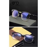 サーモント ブルーライト眼鏡  メガネ ブルーライトカット 伊達眼鏡 パソコン用 PC用メガネ サングラス 金フレーム  UVカット ファッション眼鏡 ブラック