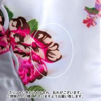 イブニングドレス ウエディングドレス 大きいサイズ 11号 2次会 Aライン 結婚式 ロングドレス 花柄 カラードレスf13050ow-b