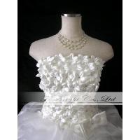 ウエディングドレス ミニドレス 二次会ドレス 胸元小花いっぱい 5号〜25号 tb205 サイズオーダー
