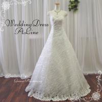 ウエディングドレス ウェディングドレス 二次会 花嫁 結婚式 安い 格安 Aライン 大きめサイズ オ...