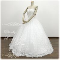 ウエディングドレス Aライン ウェディングドレス 大きいサイズ 二次会 花嫁 結婚式 披露宴 肩紐付...