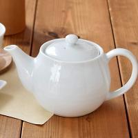 ポット急須ホワイト STUDIO BASIC 茶こし付き       シンプル 白い食器 急須 ポット 茶器 和食器
