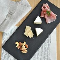 角皿 ナロースレートプレート 長角皿 35cmスレートボード 角皿 スレート チーズボード ステーキ皿 おもてなし食器 前菜皿 長角皿 大皿