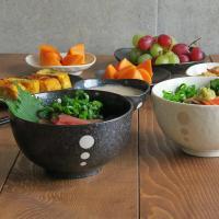 丼ぶり 和食器 水玉 お好みどんぶり (小) (ドットモノトーンシリーズ) 丼 どんぶり 子供食器 子供どんぶり ボウル 子供用ラーメン 麺鉢
