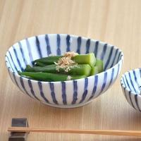 美濃焼など和食器を代表する模様の一つ、色鮮やかな染付の十草模様と、まゆのような柔らかいフォルムが、あ...