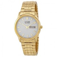 シチズン Men's Bracelet Eco Drive Flexible Band Gold-t...