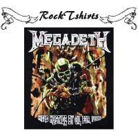 ロックtシャツ バンドtシャツ パンク Megadeth メガデス マスクを被ったモンスター M L XLサイズ 黒色
