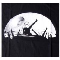 おもしろtシャツ パロディtシャツ メンズ 面白いTシャツ 笑えるTシャツ 月のDJパーティー S M L XLサイズ BLACK