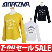 シナコバ 【レディース】 しなやかなコットン素材の長袖Tシャツです。 フロントのラメ感のあるアンカー...