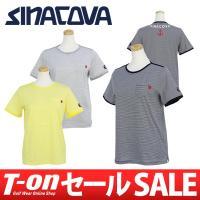 シナコバ【レディース】 上質コットン100%の柔らかな肌触りのTシャツです。 爽やかなボーダー柄に衿...