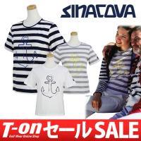 シナコバ【レディース】 上質コットン100%の滑らかな肌触りのTシャツです。 爽やかなボーダー柄にハ...