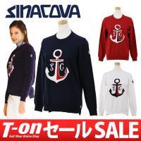 シナコバ SINACOVA【レディース】 アンカー柄ジャガードデザインのクルーネックセーターです。 ...