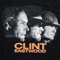 Clint Eastwood クリント・イーストウッド ハリウッド俳優 顔 プリントTシャツ ブラック 男女兼用