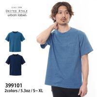 399101 5.3オンス インディゴ Tシャツ(ポケット付き)  インディゴの独特の抜け感と胸ポケ...