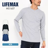 ms1607 LIFEMAX(ライフマックス)   6.2オンスヘビーウェイトロングスリーブTシャツ...