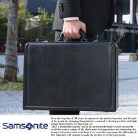 Samsonite/サムソナイト/アタッシュケース/ビジネス/本革/レザー サイズ:幅45×高さ32...