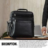 ビジネスで使えるシックなショルダーバッグ/ボリュームのあるマチ広2層タイプ/ブロンプトン/No.16...
