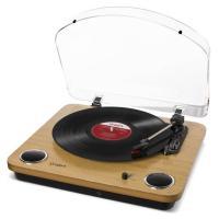 これ1台で手軽にアナログレコードを楽しめます!  ◆ステレオ・スピーカ-を搭載したオールインワン・タ...