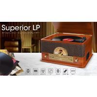 【ION AUDIO】Superior LP Bluetoothワイヤレス再生対応オールインワン・ミュージックプレーヤー CD ラジオ カセット レコードプレイヤー