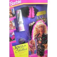 バービー Barbie ジュエル & グリッター リバーシブル ファッション w ゴールド ...