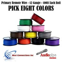 12 GA ゲージ 100 FT SPOOLS PRIMARY オート REMOTE POWER GROUND WIRE ケーブル (海外取寄せ品)