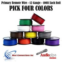 12 GA PRIMARY POWER GROUND WIRE (4) 100FT ロール ボート CAR 12- 80 VOLT (海外取寄せ品)