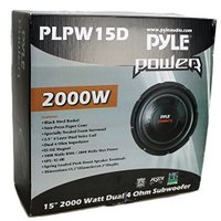 """4) NEW Pyle PLPW15D 15"""" 8000W Car Subwoofers Audio Power サブ Woofer(海外取寄せ品)"""