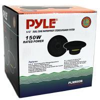 """4) PYLE PLMR60B 6.5"""" 300W マリーン/ボート デュアル Cone 防水 スピーカー TWO ペア(海外取寄せ品)"""