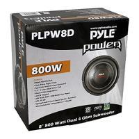"""2) PYLE PLPW8D 8"""" 1600W デュアル Voice Coil 4-Ohm Car Audio Subwoofers(海外取寄せ品)"""