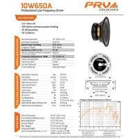 """PRV 10W650A Alto Series プロ Audio 10"""" Woofer 8-Ohm 325 ワット DJ スピーカー(海外取寄せ品)"""