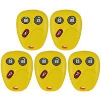 QualityKeylessPlus Lot of 5 イエロー Remote リプレイスメント for 3 ボタン Keyless(海外取寄せ品)