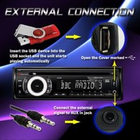 NAKAMICHI NA300IR CD MP3 WMA SD USB iPOD iPHONE RDS AUX IN Car ステレ(海外取寄せ品)
