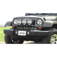 Jeep Wrangler 2007-2012 フロント Bumper Fog /Driving Light Bar Mopar b(海外取寄せ品)