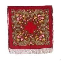 Medium ロシアン Woolen Shawl #77905 (silk fringe)(海外取寄せ品)