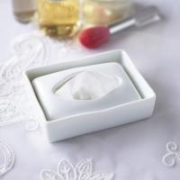 ポケットティッシュ ケース BOX ボックス 陶器 白 日本製 磁器 ティッシュ カバー シンプル おしゃれ